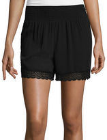 Bisou Bisou Smocked Lace Shorts
