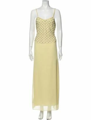 Needle & Thread Square Neckline Long Dress Yellow