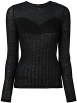 Balmain ribbed knit top - women - Wool - 36
