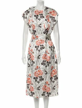 Victoria Beckham Floral Print Long Dress