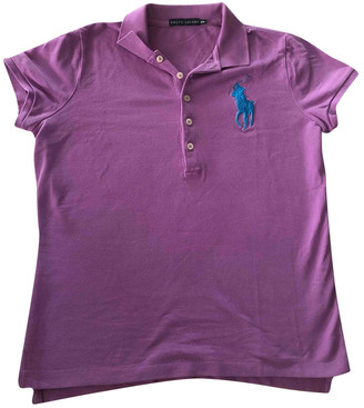 Ralph Lauren Polo cintre manches courtes Purple Cotton Top for Women