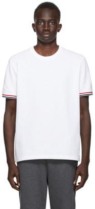 Thom Browne SSENSE Exclusive White Pique T-Shirt