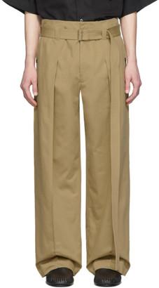 Loewe Beige Belted Trousers