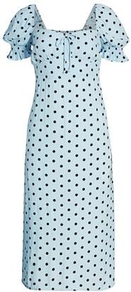 Faithfull The Brand Evelyn Dotted Midi Dress