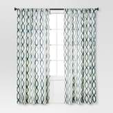 Threshold Semi-Sheer Wavy Lines Curtain Panel
