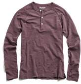 Todd Snyder Weathered Henley in Crimson