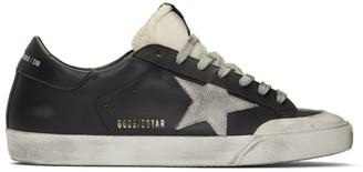 Golden Goose Black and Grey Superstar Sneakers
