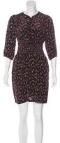 Vanessa Bruno Silk Abstract Print Dress