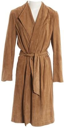 Ralph Lauren Brown Suede Coat for Women