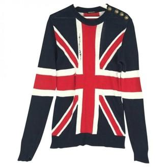 Balmain Navy Linen Knitwear & Sweatshirts