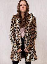 MinkPink New Women's Leopard Midline Jacket