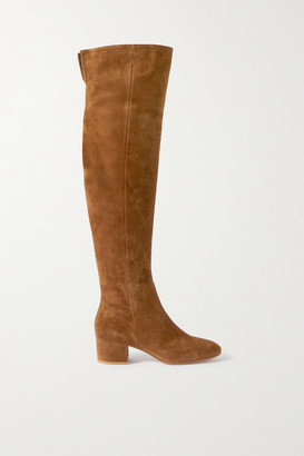 Gianvito Rossi 45 Suede Over-the-knee Boots - Tan