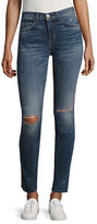 Current Elliott High-Waist Ankle Skinny Rip Jeans