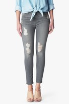 7 For All Mankind The Ankle Skinny With Destroy In London Grey Skies