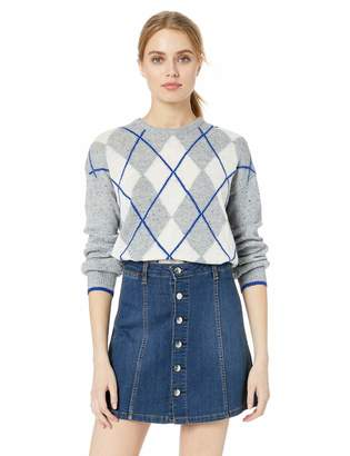 Cupcakes And Cashmere Women's indy Argyle Sweater w/Speckle