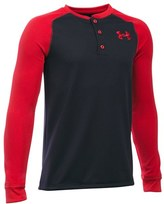 Under Armour Boy's Colorblock Waffle Henley