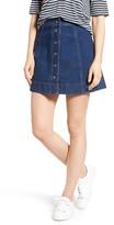 Madewell Women's Metropolis Snap Denim Miniskirt