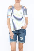 Red Haute Basic Stripe Top