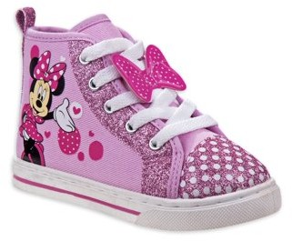 Minnie Mouse Disney Polka Dot Character High-Top Sneaker (Toddler Girls)