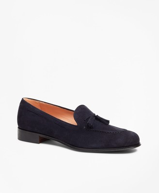 Brooks Brothers Suede Tassel Loafers