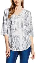 Betty Barclay Women's Regular Fit 3/4 Sleeve Blouse - Multicoloured -