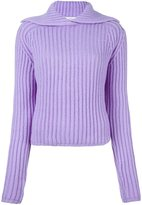 Carven ribbed pullover - women - Nylon/Wool - S