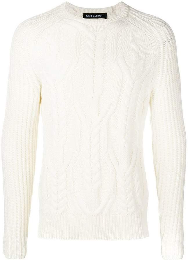 Neil Barrett cable-knit jumper