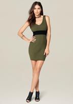Bebe Aubree Double V-Neck Dress