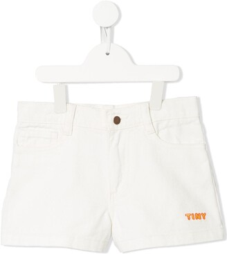 Tiny Cottons Logo-Embroidered Shorts