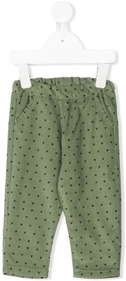 Knot Corduroy Heart Trousers
