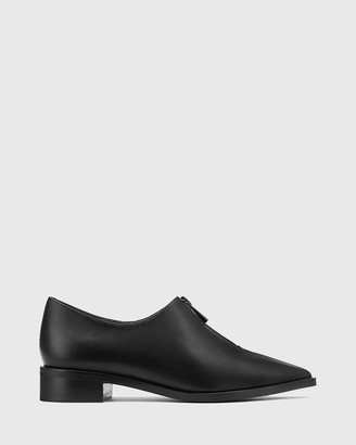 Wittner - Women's Black Brogues & Loafers - Marthur Leather Pointed Toe Flats - Size One Size, 38 at The Iconic