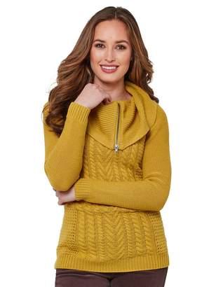 Joe Browns Quirky Collared Knit - Mustard