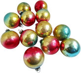One Kings Lane Vintage 1960's Glass Christmas Ornaments S/12