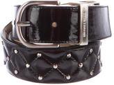 Michael Kors Patent Leather Stud-Embellished Belt