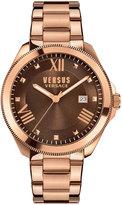 Versus By Versace Elmont Round 40mm Women's Bracelet Watch, Rose/Brown