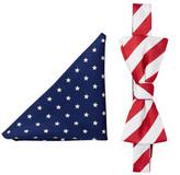 Alara Stars & Stripes Bow Tie & Pocket Square Set