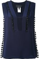 Derek Lam ribbed embroidered detail top - women - Silk - 36