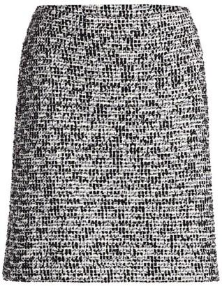 St. John Mod Statement Tweed Knit Skirt