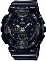 Baby-G Women's Analog-Digital Black Resin Strap Watch 43x46mm BA125-1A