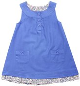 Jo-Jo JoJo Maman Bebe Pretty Twill Dress (Baby)-Cornflower-12-18 Months