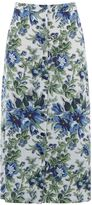 Warehouse Lily Print Midi Skirt