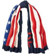 Ralph Lauren Flag Wool Scarf Navy One Size