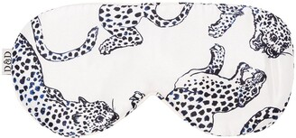 Desmond & Dempsey Jaguar Print Sleeping Eye Mask