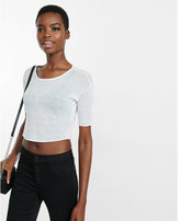 Express One Eleven Sheer Cropped Top