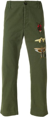 Gucci Insect Appliqued Chinos