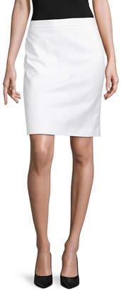Liz Claiborne Womens Mid Rise Midi Pencil Skirt