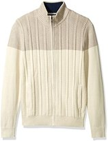 Nautica Men's Zip-Front Cable-Knit Cardigan Sweater