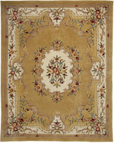 KM Home Majesty Aubusson Gold 3' x 5' Area Rug