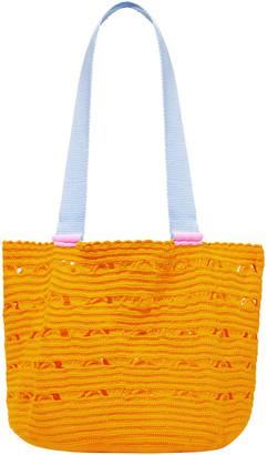 Sophie Anderson Grosgrain-trimmed Crochet-knit Tote
