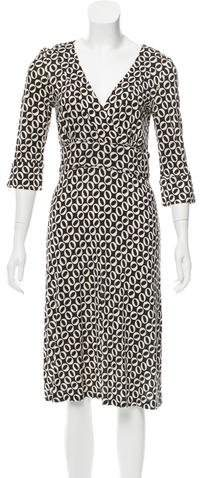 Diane von Furstenberg V-Neck Long Sleeve Dress